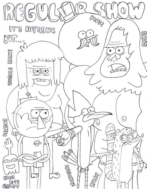 Regular Show By Soda Lime On Deviantart Regular Show Colouring Pages