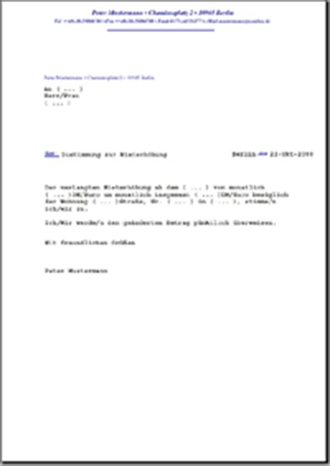 Muster Garagenmietvertrag Word Zustimmung Zur Mieterh 246 Hung De Musterbrief