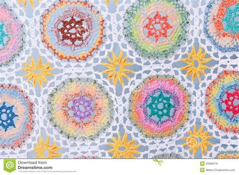 Handmade Patterns - handmade crochet fabric pattern royalty free stock image