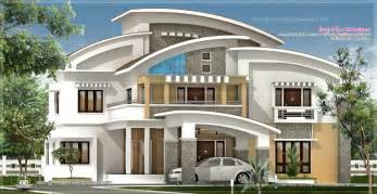 Luxery House Plans by 3750 Square Feet Luxury Villa Exterior Kerala Home