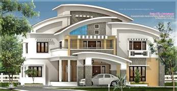 square feet luxury villa exterior home kerala plans house designs august youtube