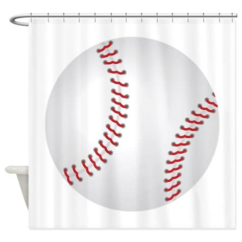 Baseball Shower Curtain By Expressivemind
