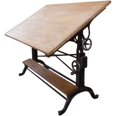 Vintage Wood Drafting Table Vintage Cast Iron Wood Drafting Table By The Frederick Post Co Wood Drafting Table Posts