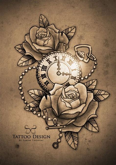 pocket watch and rose tattoo design 25 best ideas about pocket tattoos on