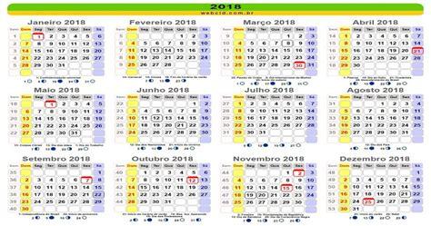 Calendario 2018 Feriados Sp 2018 Ter 225 Nove Feriados Nacionais E Cinco Pontos