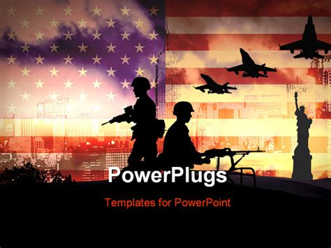powerpoint templates army free download powerpoint template silhouettes of any soldiers in new