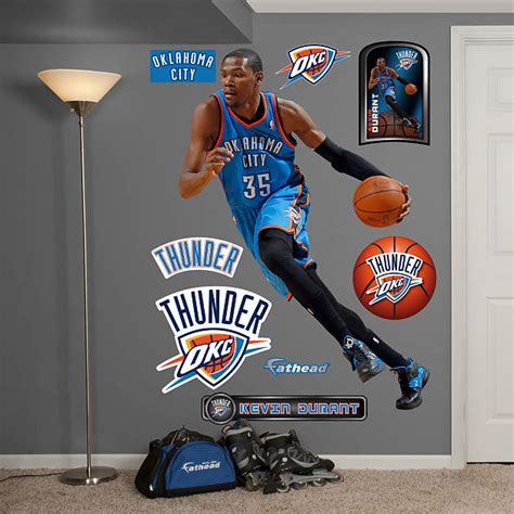 okc thunder home decor life size kevin durant no 35 wall decal shop fathead