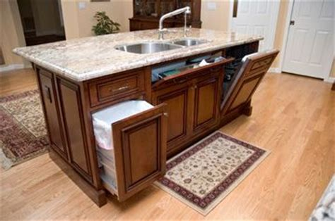kitchen island sink hide a trash can dishwasher not sure if i like the hide a dishwasher