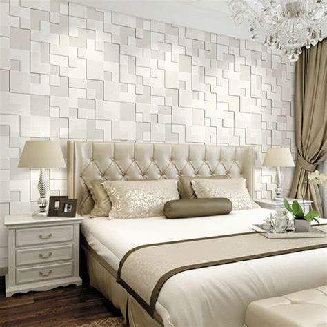 3d wallpaper for bedroom 10m 3d wallpaper mosaic lattice non woven fabrics