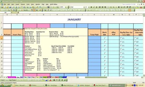 ebay excel template ebay accounting spreadsheet1 ebay spreadsheet template