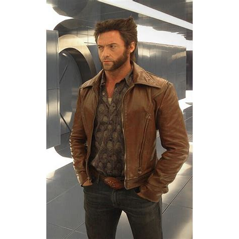 Jaket Semi Kulit Sintetis Jacket Wolverine Logan X Hitam Merah x days of future past wolverine leather jacket hugh jackman jacket