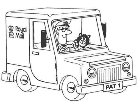 free coloring pages of postman pat van