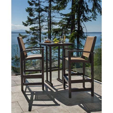Outdoor Bar Table Set Coastal Polywood 3 Outdoor Bar Set Overstock Shopping Big Discounts On Polywood