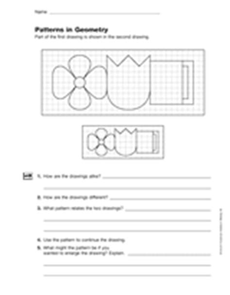 geometric pattern rules comparing geometric shapes patterns in geometry gr 6