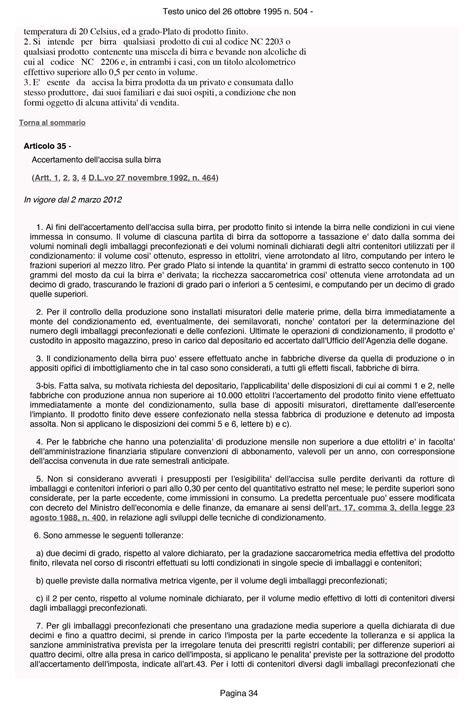 testo unico delle accise testo unico accise 34 rimborso accise gasolio