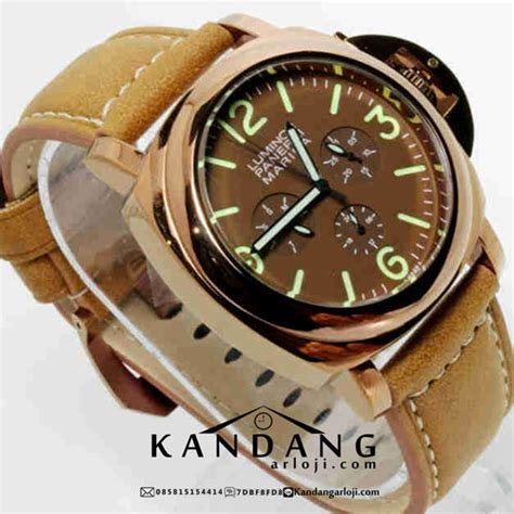 jual panerai luminor marina coklat gold