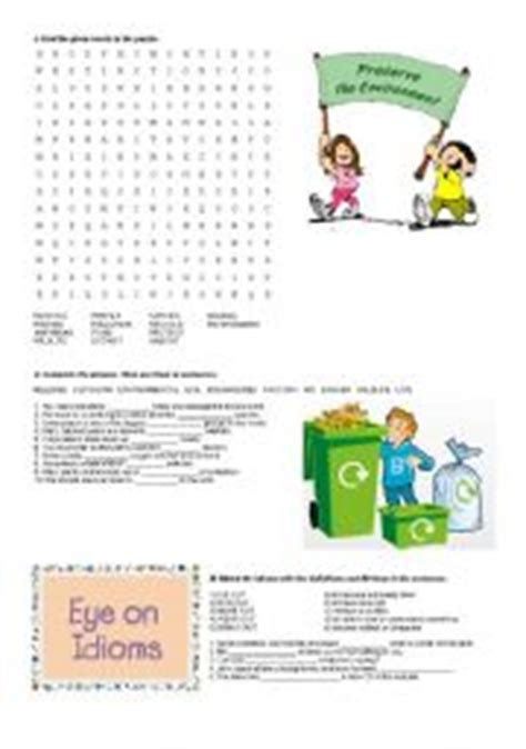 worksheets the environment worksheets page 68