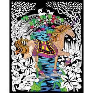 stuff 2 color fuzzy velvet coloring poster unicorn