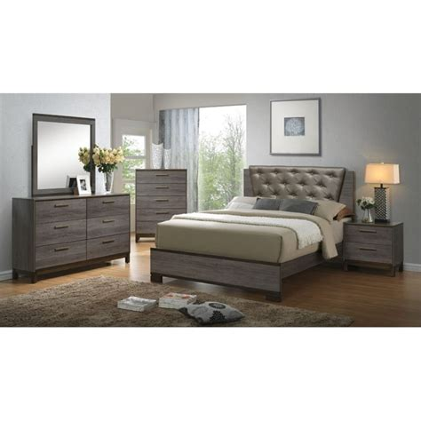 4 piece bedroom furniture sets furniture of america charlsie 4 piece upholstered queen