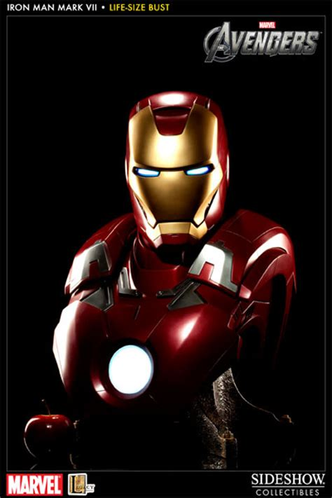 Marvel Iron Man Mark Vii Life Size Bust By Sideshow | marvel iron man mark vii life size bust by sideshow