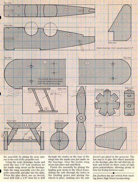 wooden airplane plans woodarchivist