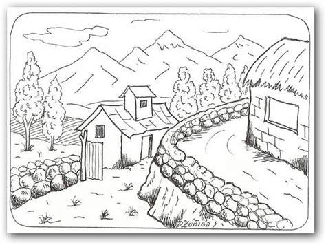imagenes para dibujar un paisaje dibujos para colorear paisajes dibujos para colorear