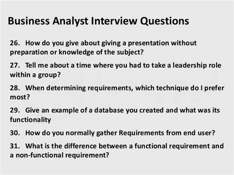 business analyst questions part 2