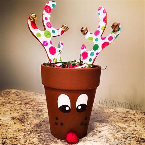 62 best christmas clay pots images on pinterest