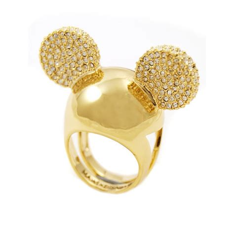 disney couture mickey ears pave gold ring gold disney