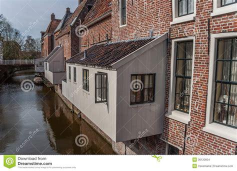 Oud Appingedam by Hangende Keukens In Het Oude Centrum Appingedam Stock