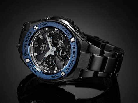 Casio G Shock Gst S110bd 1a2dr Tough Solar Stainless Steel Band 200m promo g shock g steel series