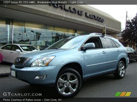 light grey lexus breakwater blue metallic 2007 lexus rx 350 awd light