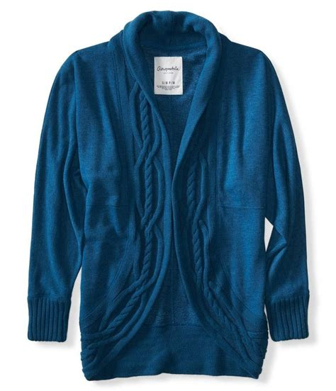 cable knit cocoon cardigan aeropostale womens cable knit cocoon cardigan sweater ebay