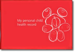 my personal health records journal books the pchr health for all children