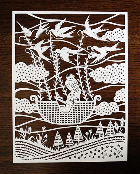 Paper Cut L by Enchantingly Intricate Papercuts Inspired By Tales