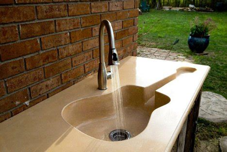 Concrete Countertops Ta by Custom Guitar Shaped Kitchen Sink For A Harmonious Home