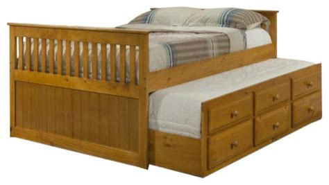Size Trundle Bed With Drawers by Size Captains Bed With Drawers And Trundle Panel