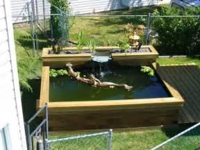 Raised Garden Pond Ideas Raised Pond With Waterfall Pond Ideas