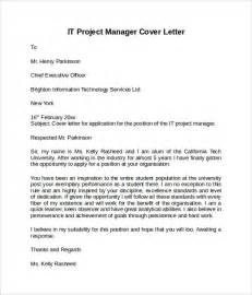 cover letter it project manager information technology cover letter template 8