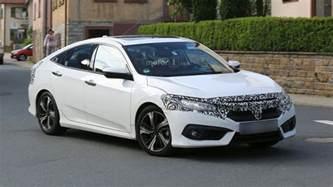 Honda Europe 2017 Honda Civic Sedan Hatchback Getting Ready For Europe