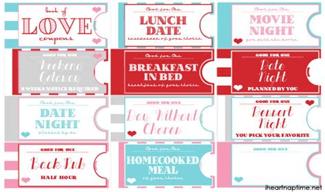 Printable Love Coupon Book The Perfect Valentine S Day Gift Voucher Booklet Template