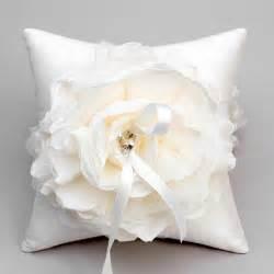 ivory flower ring pillow wedding ring bearer pillow bridal