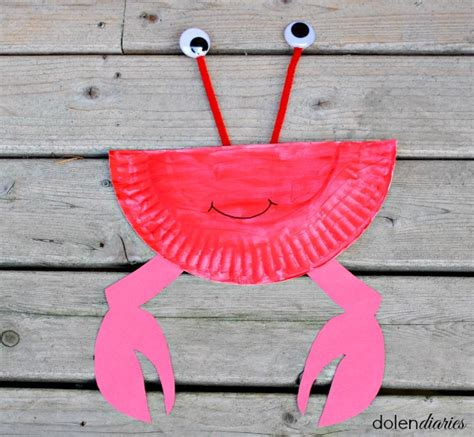 Paper Plate Crab Craft - paper plate crab skip to my lou