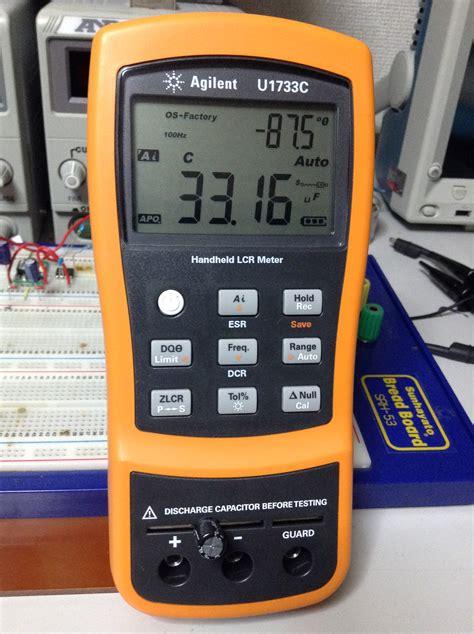 how do capacitor meters work series rlc circuit response to sinusoidal input voltage momoyama works