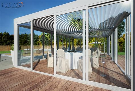 freestanding aluminium pergola with adjustable louvers