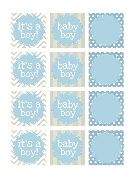 Boy Baby Shower Free Printables Shower Banners Baby Boy Shower And Boy Baby Showers Free Printable Baby Shower Favor Tags Template
