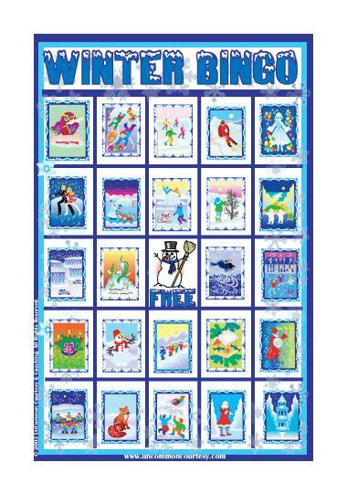 winter bingo card template winter bingo winter bingo on