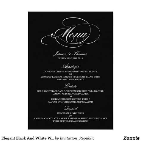17 best ideas about wedding menu template on pinterest