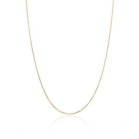 1 4 mm box chain necklace in 14k white gold