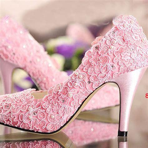 2015 discount fashion designer pink wedding shoes high